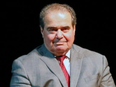 PHOTO: U.S. Supreme Court Justice Antonin Scalia waits during an introduction before speaking at the University of Minnesota as part of the law schools Stein Lecture series in Minneapolis on Oct. 20, 2015.