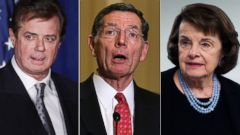 PHOTO: Pictured (L-R) are Paul Manafort on April 27, 2016, John Barrasso on Jan. 20, 2016 and Dianne Feinstein on April 5, 2016 in Washington.