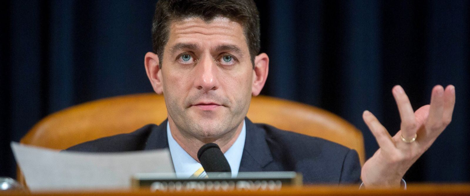PHOTO: Representative Paul Ryan, a Republican from Wisconsin and chairman of the House Ways and Means Committee, questions witnesses during a House Ways and Means Committee hearing in Washington on July 17, 2015.