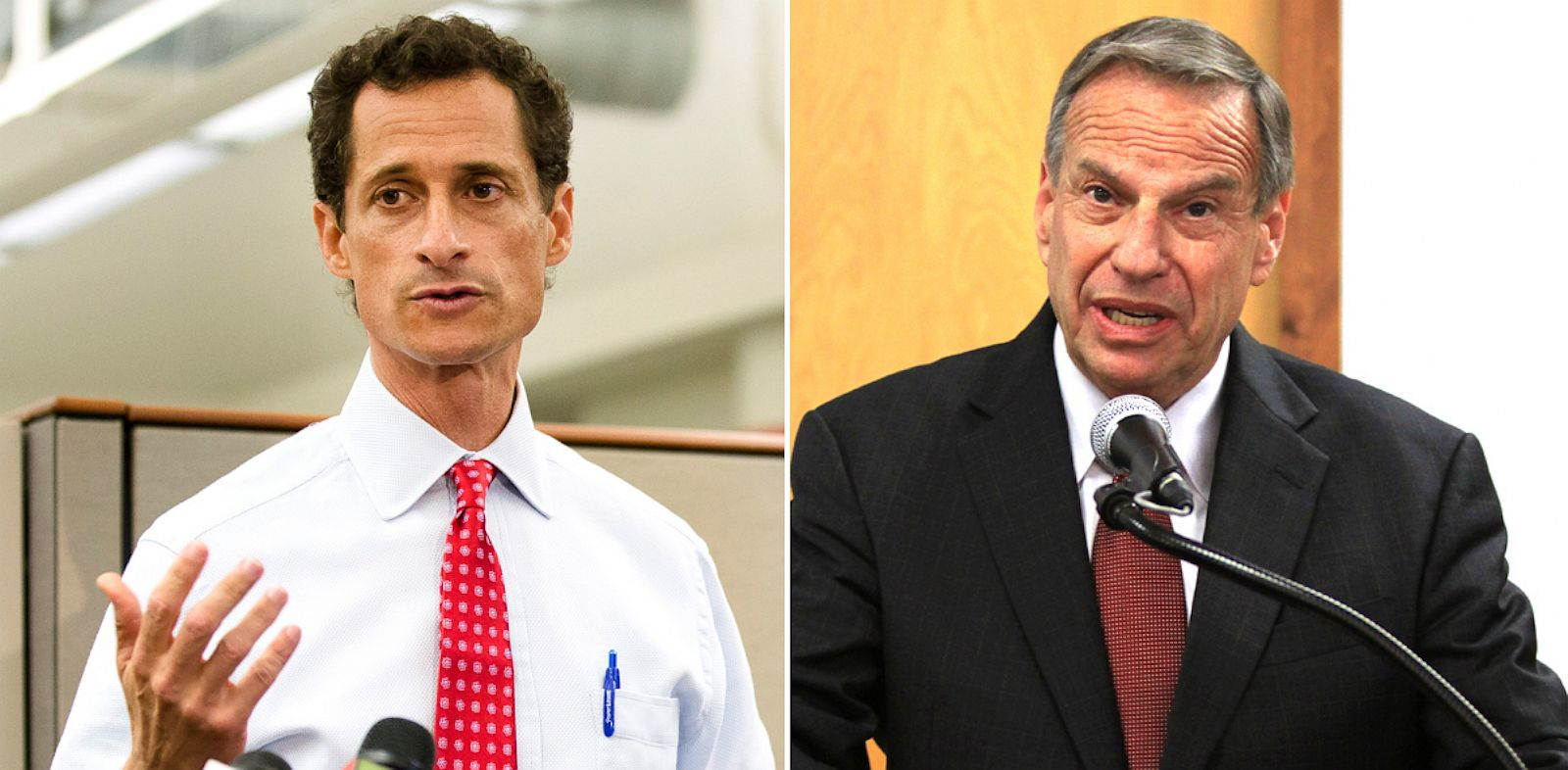 PHOTO: Anthony Weiner and Bob Filner