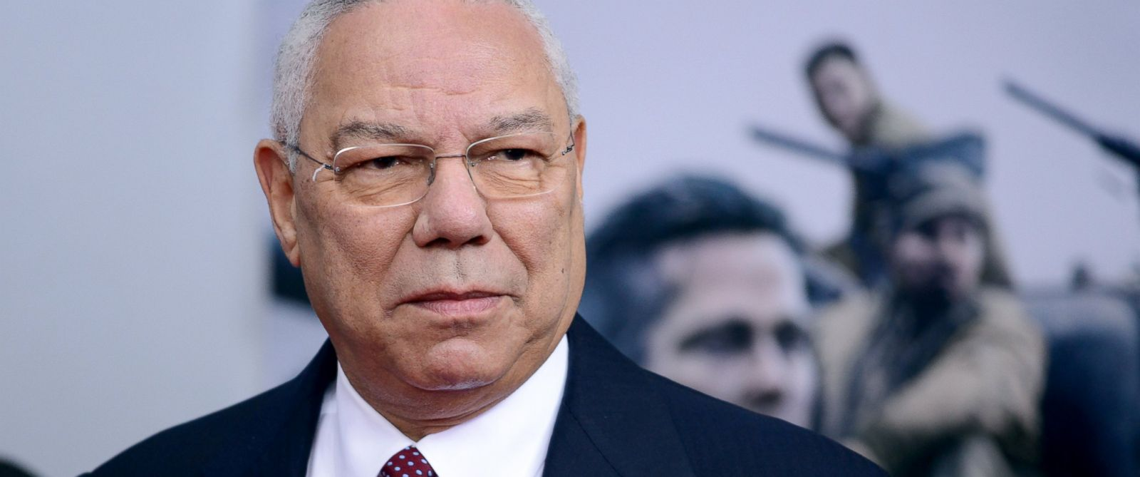 "PHOTO: Retired General Colin Powell attends the ""Fury"" Washington D.C. Premiere at The Newseum, Oct. 15, 2014, in Washington."