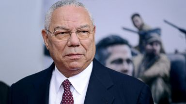 """PHOTO: Retired General Colin Powell attends the """"Fury"""" Washington D.C. Premiere at The Newseum, Oct. 15, 2014, in Washington."""