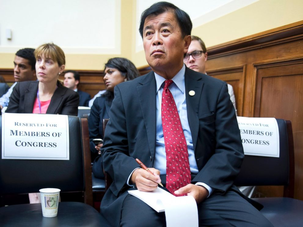PHOTO: Former Rep. David Wu, D-Ore., attends a House Foreign Affairs Committee hearing in Rayburn Building on the Obama administrations response to Syrias alleged use of chemical weapons.