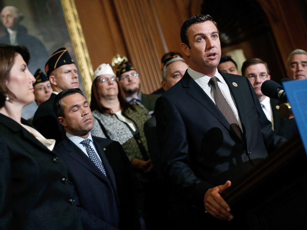 PHOTO: Rep. Duncan Hunter (R-Calif.) speaks during a news conference held by House Republicans on Protecting Americas Veterans at the U.S. Capitol, May 29, 2014, in Washington.