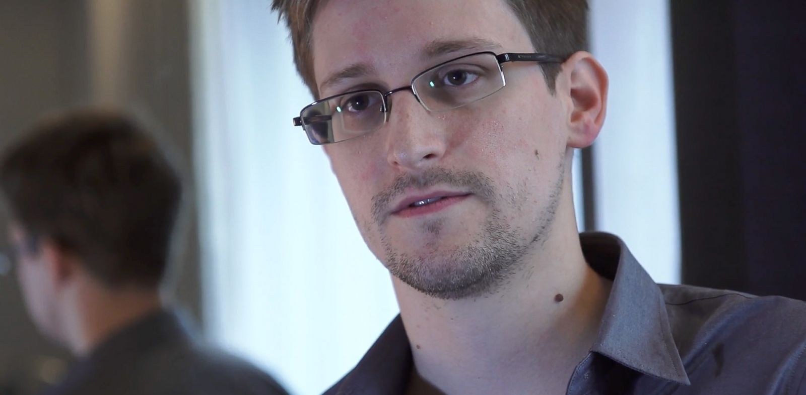 PHOTO: In this handout photo provided by The Guardian, Edward Snowden speaks during an interview in Hong Kong.