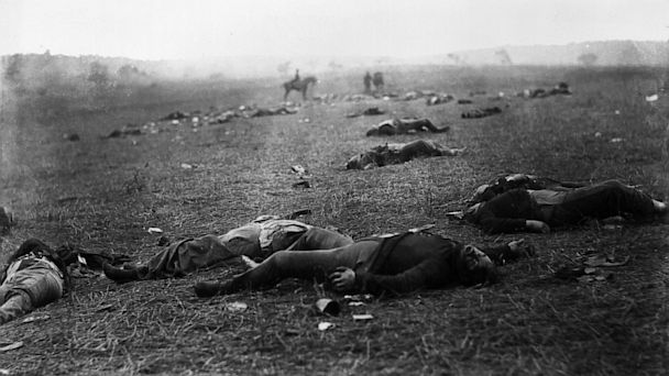 harvest of death, battle of gettysburg