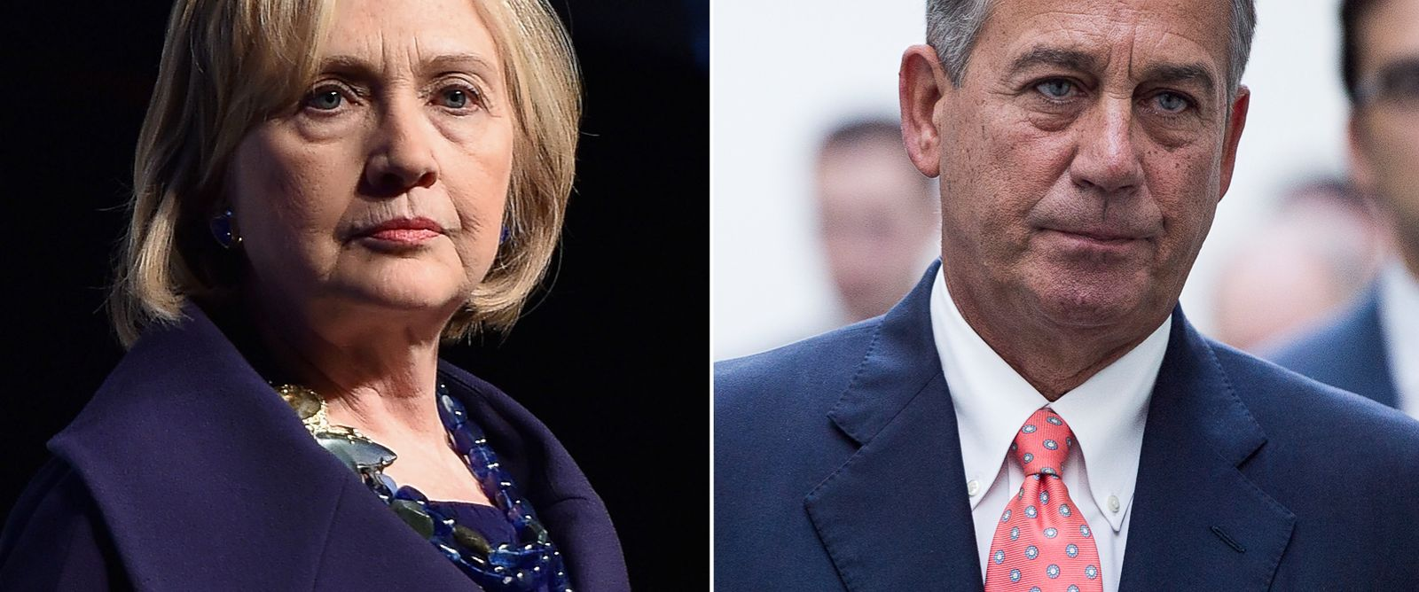 PHOTO: Hillary Clinton   John Boehner