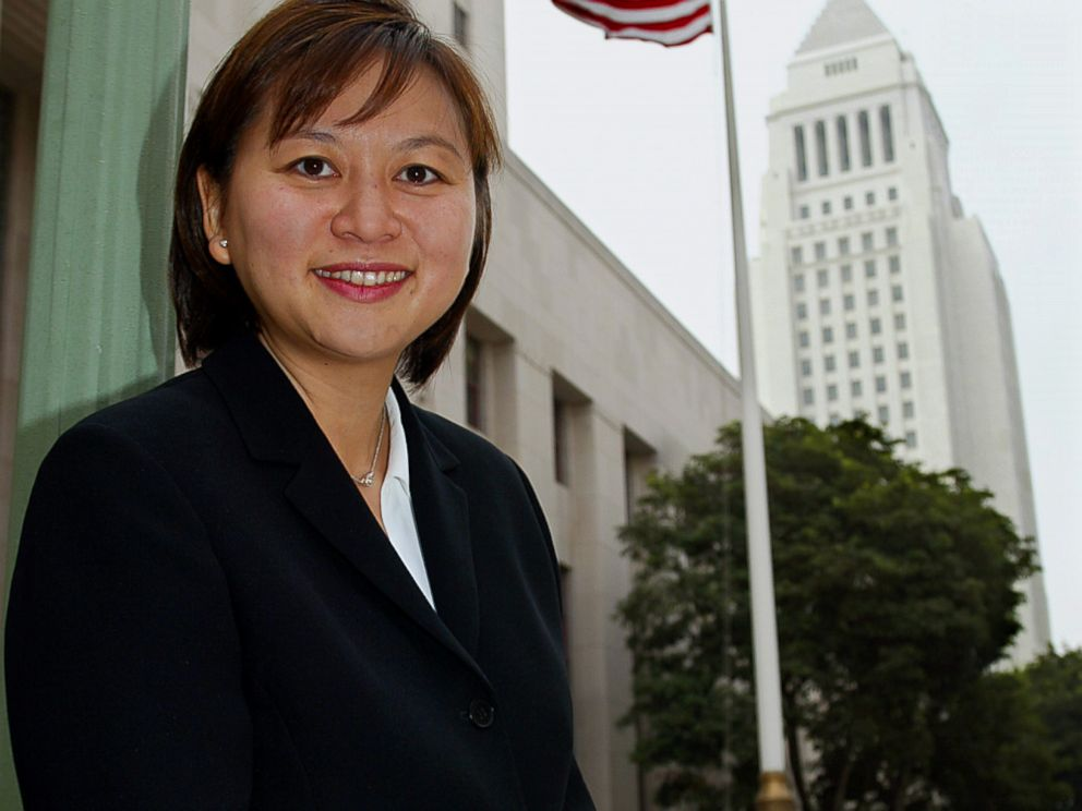 PHOTO:Jacqueline Nguyen is photographed outside the court, Aug. 15, 2002, in Los Angeles.