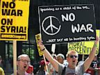 PHOTO: Protesters against U.S. intervention in Syria