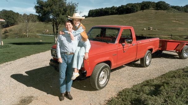 PHOTO: Ronald Reagan and Nancy Reagan at their ranch, Rancho del Cielo, near Santa Barbara, Calif., February 1985.