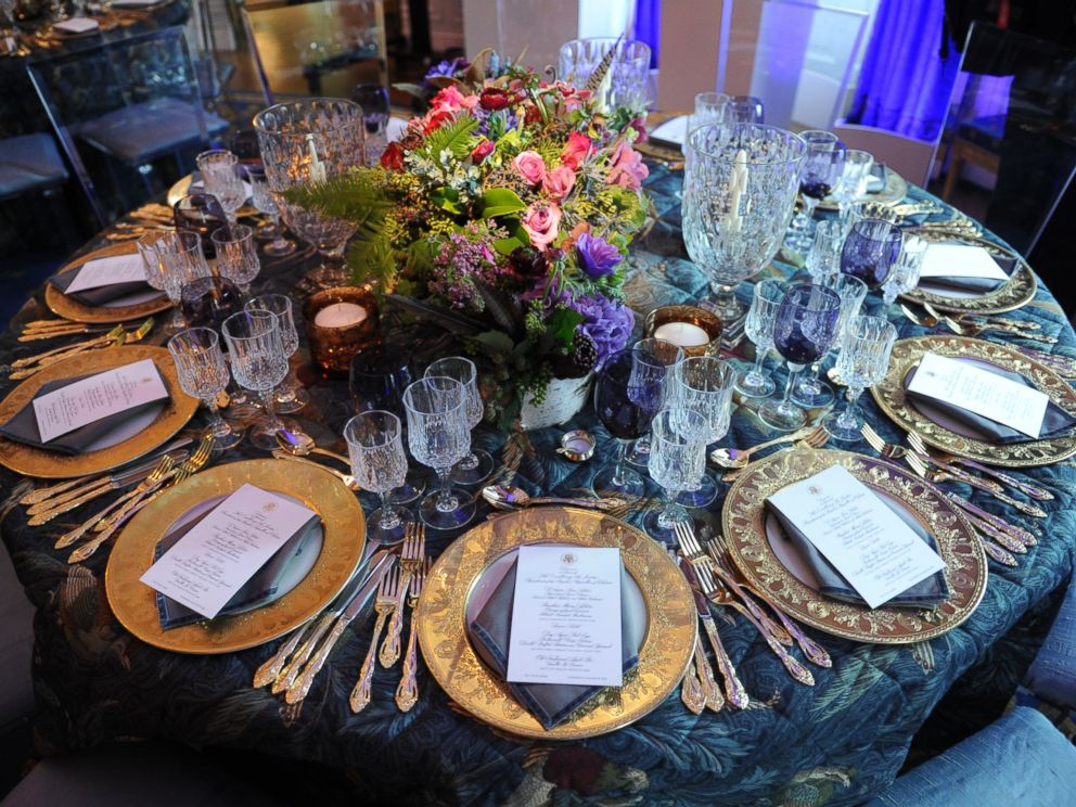 PHOTO: A table setting in the Blue Room at the White House State Dinner, Jan. 19, 2011 in Washington.
