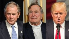 PHOTO: President George H.W. Bush and his son President George W. Bush have no plans to endorse Donald Trump, their spokesman told ABC News.