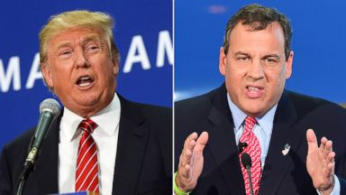 PHOTO: Donald Trump, left, is pictured on Sept. 30, 2015 in Keene, N.H. Chris Christie, right, is pictured in Simi Valley, Calif on Sept. 16, 2015.