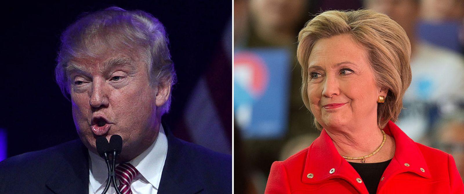 PHOTO: Republican presidential candidate Donald Trump and Democratic presidential candidate Hillary Clinton.