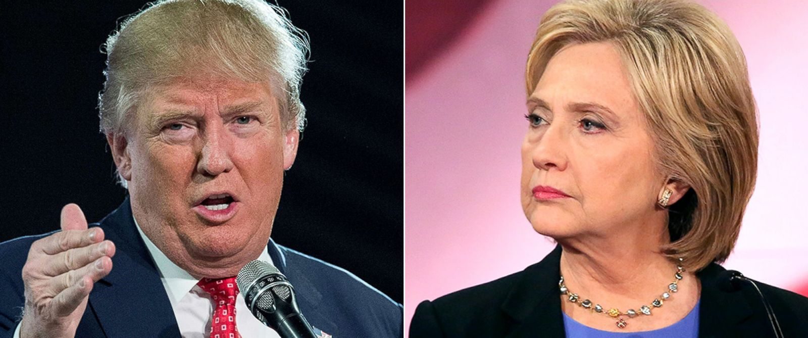 PHOTO: Donald Trump, left, and Hillary Clinton are vying for the White House in the 2016 presidential race.