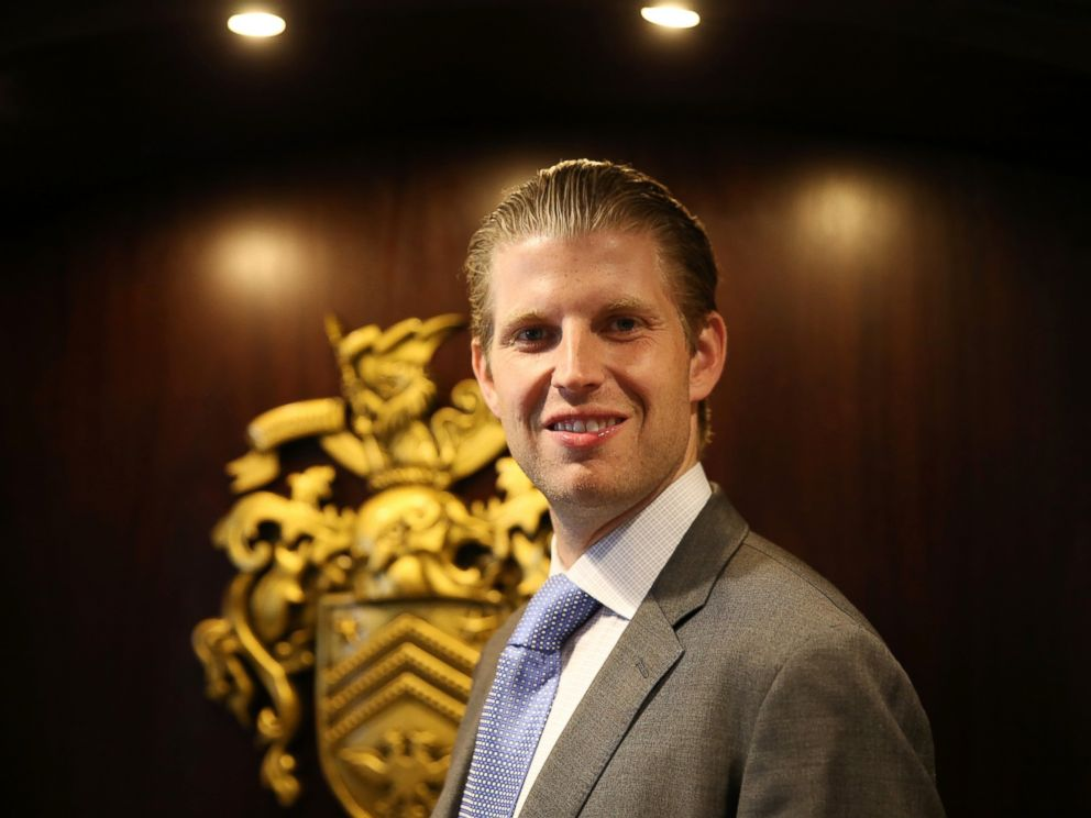 PHOTO:Eric Trump Visits Turnberry Golf Club, after its $10 Million refurbishment, June 8, 2015 in Turnberry, Scotland.