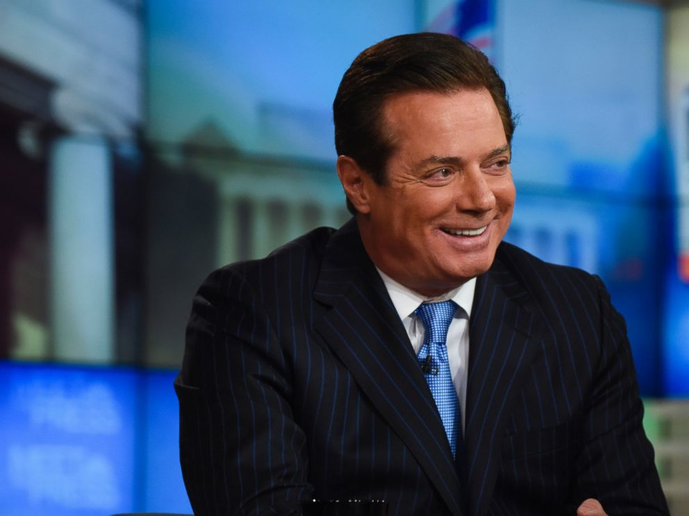 PHOTO: Paul Manafort, Convention Manager for the Trump Campaign, appears on Meet the Press in Washington, April 10, 2016.