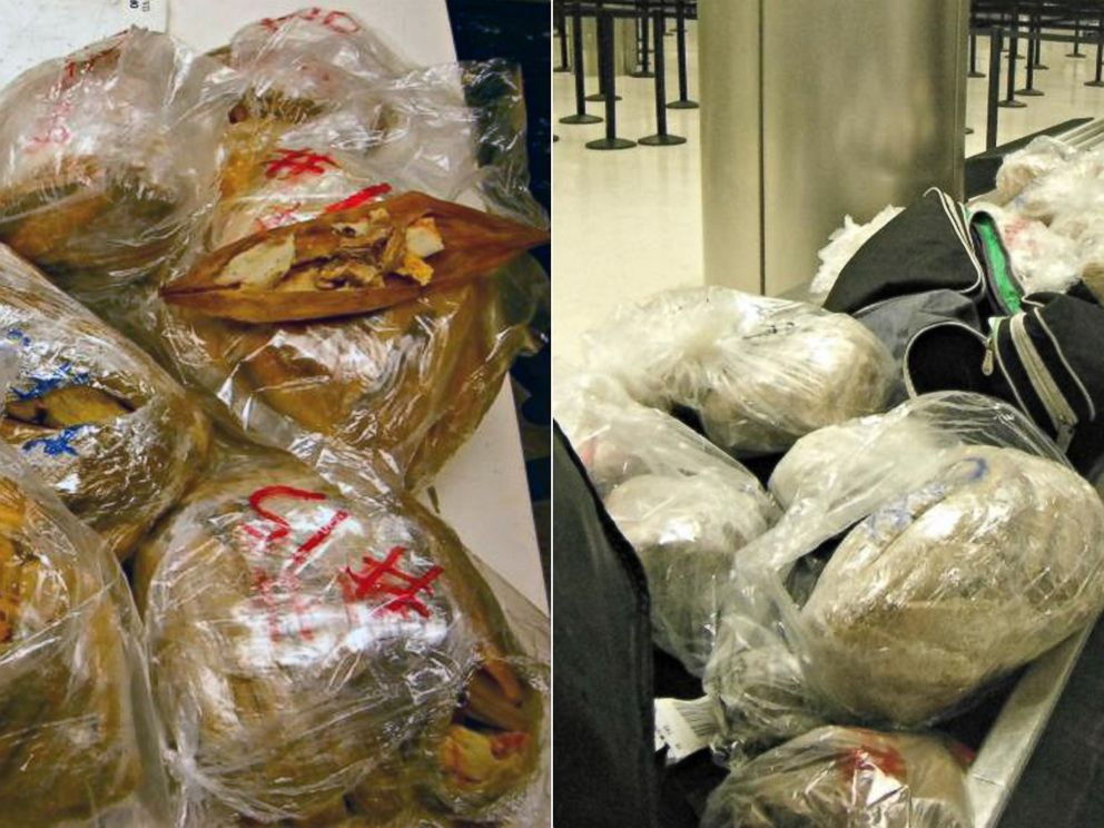 PHOTO: Officers seized 450 pork meat tamales at LAX in Los Angeles.