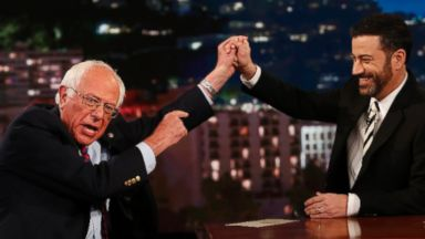 PHOTO: Democratic Presidential candidate Bernie Sanders appears on Jimmy Kimmel Live, May 26, 2016