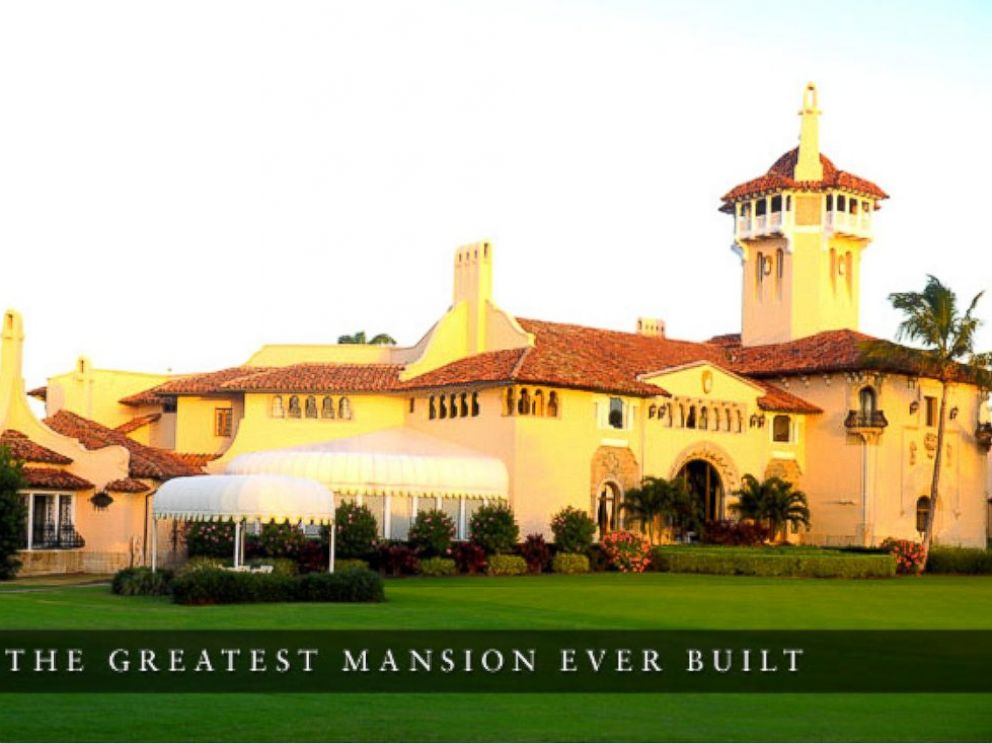 The Mar-a-Lago Estate, owned by Donald Trump, lies at the water's edge ...