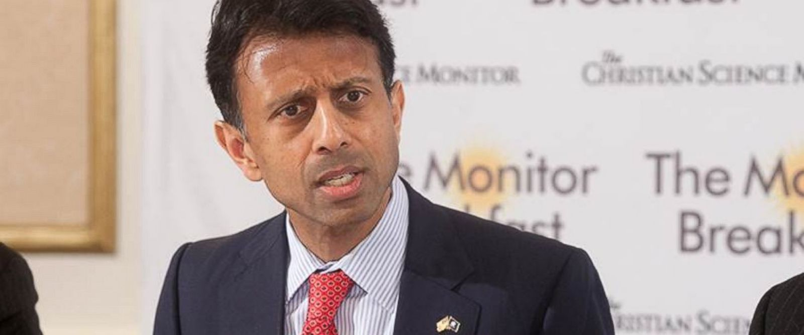 PHOTO: Louisiana Gov. Bobby Jindal speaks at a breakfast in Washington, Feb. 9, 2015.