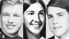 PHOTO: Donald Trump, Carly Fiorina and Rick Perry are seen in their respective high school yearbook photos.