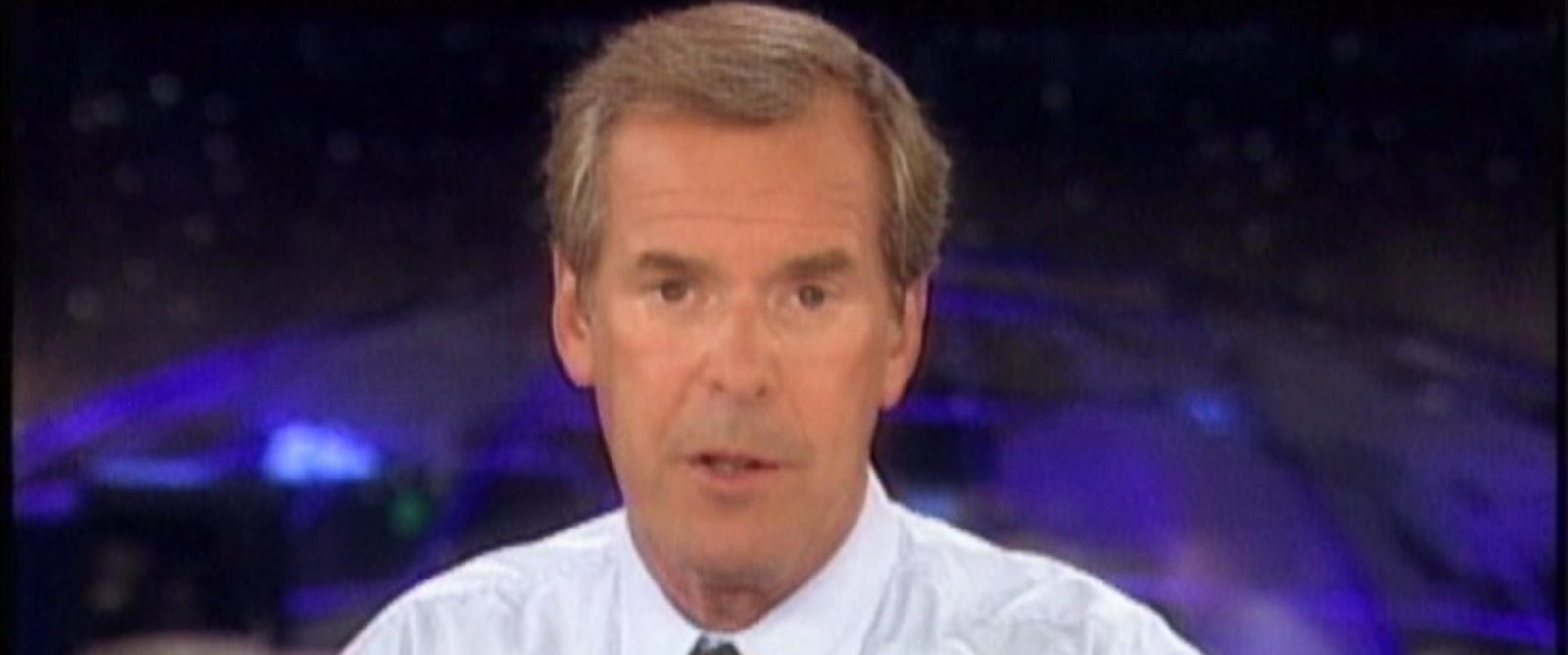 PHOTO: ABC News anchor Peter Jennings reporting on September 11, 2001.