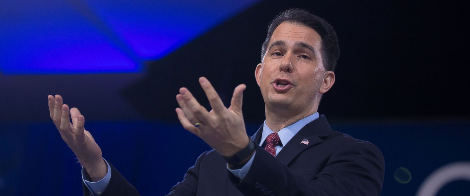 PHOTO: Gov. Scott Walker (R-WI) speaks at the 2016 Conservative Political Action Conference (CPAC) at the Gaylord National Resort & Convention Center at National Harbor MD on March 3, 2016.