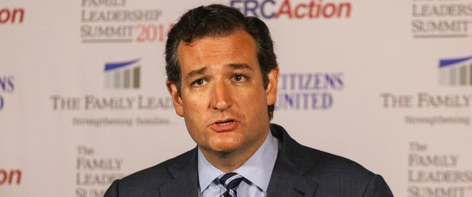 PHOTO: Ted Cruz speaks after the Family Leadership Summit in Ames, Iowa Aug. 9, 2014.