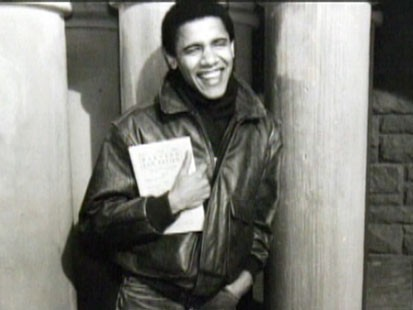 A picture of Barack Obama as a young man.