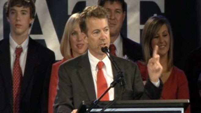 VIDEO: Kentuckys Rand Paul scores first major win of the night for the Tea Party.