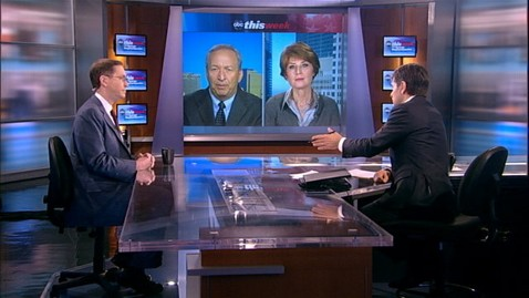 abc TW EconPanel1 jt 120205 wblog President Obama and Mitt Romney Advisers Square Off on the Economy