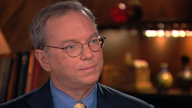 "PHOTO: Google Chairman Eric Schmidt is interviewed on ""This Week"""