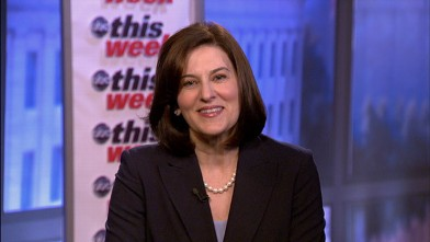 """PHOTO: Victoria Kennedy, widow of late Sen. Ted Kennedy appears on """"This Week."""""""