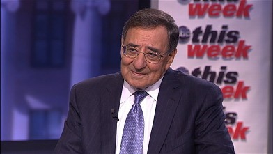 """PHOTO: Secretary of Defense Leon Panetta is interviewed by Jake Tapper on """"This Week."""""""