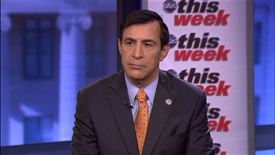 """PHOTO: Chair of the House Oversight Committee Rep. Issa (R-CA) on """"This Week"""""""