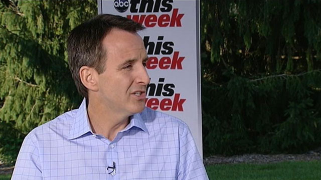 "PHOTO: Gov. Tim Pawlenty announces on ABCs ""This Week"" that he will discontinue his run for president."
