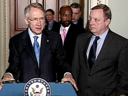 VIDEO: Sens. Harry Reid and Dick Durbin talk about Roland Burris.