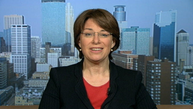 PHOTO: Senator Amy Klobuchar, (D) Minnesota, on This Week