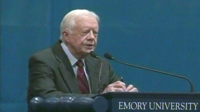 VIDEO: Jimmy Carter cancels book signings after falling ill on a flight to Cleveland.