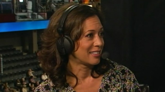 VIDEO: Kamala Harris says she doesn't think about pundits' desire for her to run for president.