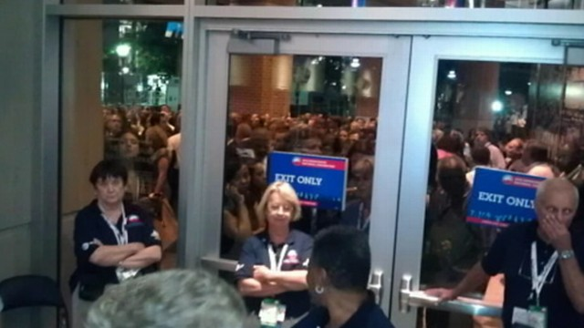VIDEO: Cecilia Vega discusses growing anger outside DNC as convention-goers are not allowed access.