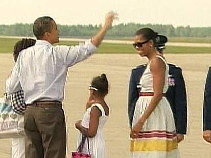 VIDEO: Foul Weather Foils Obamas Vacation Plans