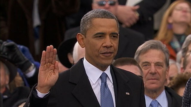 VIDEO: Chief Justice John Roberts swears in the president for his 2nd term.