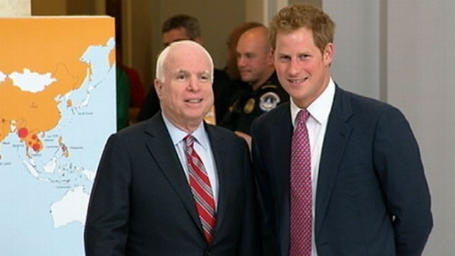 VIDEO: Prince Harry Visits Landmine Exhibit on Capitol Hill