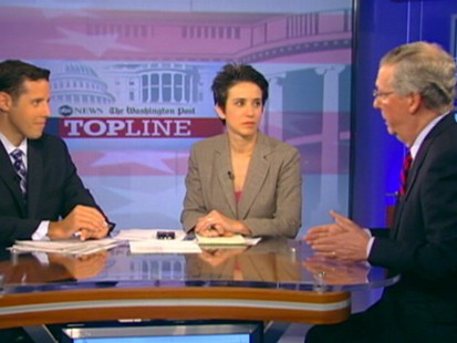 """Video: Senate Minority Leader Mitch McConnell on """"Top Line."""""""