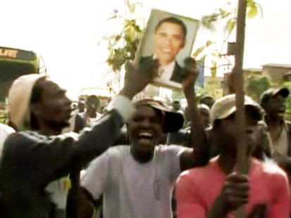 Picture of Kenyans celebrating Obamas win.