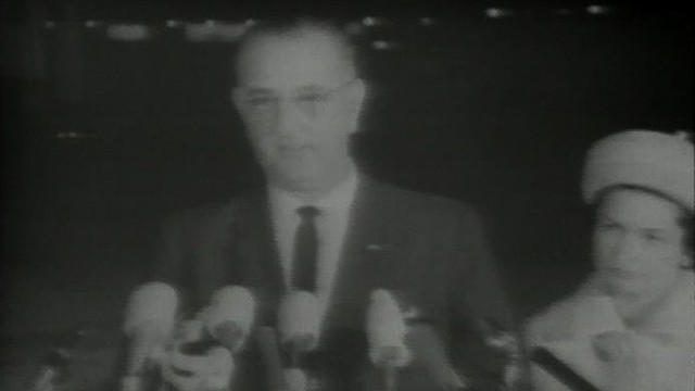 VIDEO: Lyndon Baines Johnson comments on the death of President Kennedy.