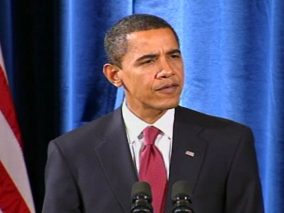 "Video of President-elect Barack Obama during a Chicago press conference to announce his ""green team."""