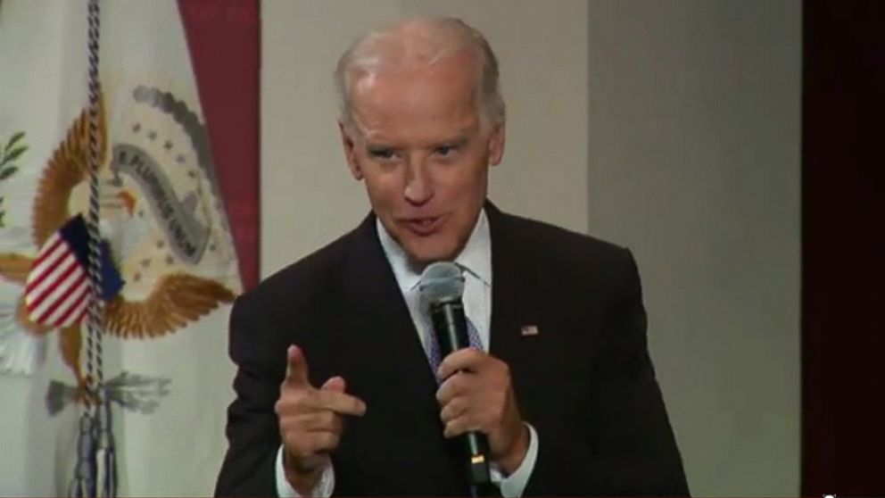 VIDEO: The vice president jokingly characterized his job with one word that left an audience at Harvard laughing.